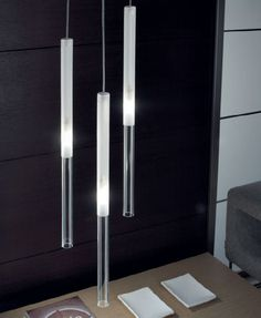 Glass pendant lamp CANDLE Candle Collection by PANZERI   design Silvia Poma