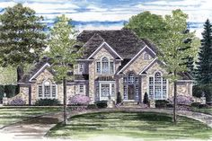 European Tudor House Plan 94174