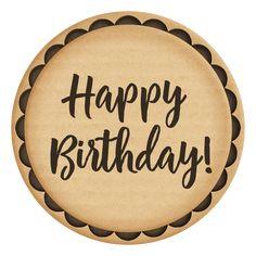 Gender neutral printable birthday cupcake toppers with handwritten script word art. Happy Birthday Logo, Happy Birthday Template, Happy Birthday Calligraphy, Happy Birthday Floral, Happy Birthday Celebration, Happy Birthday Cake Topper, Birthday Letters, Birthday Tags, Birthday Stuff