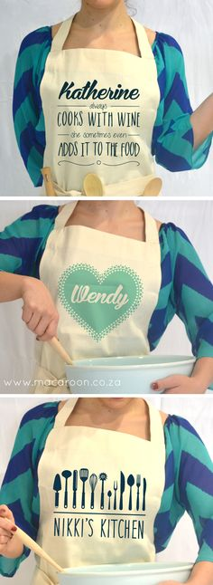 Love to cook - Personalised aprons are a must-have for any kitchen; cook up a storm without messing on your favourite dress http://www.macaroon.co/macaroon/content/en/macaroon/personalised-aprons