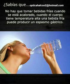 ¿Sabías que.. tomar agua fria