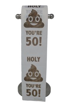 Happy Birthday Toilet Paper Prank Funny Gag Gift It's the perfect gift for anyone turning This birthday toilet paper is professionally printed on the entire roll of toilet paper—not just the top sheet like others. Each roll is Am. Best 50th Birthday Gifts, Old Man Birthday, Husband 30th Birthday, 40th Birthday Decorations, Friend Birthday Gifts, Happy Birthday, Birthday Ideas, Birthday Crafts, Birthday Memes