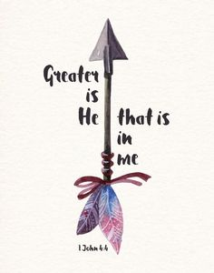 Greater is He that is in me- 1 John We can do great things because He lives in us. He goes before us and fights our battles. What we think we can't do, we can! This is because He dwells in our hearts by faith. He is stronger then any evil of this world. Bible Verses Quotes, Bible Scriptures, Faith Bible, Best Bible Quotes, Strength Bible Quotes, Faith Quotes, Greater Is He, Bibel Journal, 1 John