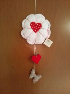 Fimo e Feltro...l'arte tra le mani: Solo tre parole, farfalla cuore e fiore!
