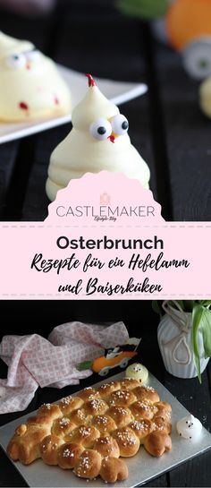 Easter brunch ideas Easter lamb made from yeast dough and meringue chick Wilton Icing, Easter Recipes, Dessert Recipes, Desserts, Easter Ideas, Easter Lamb, Easter Brunch, Meringue, Happy Easter
