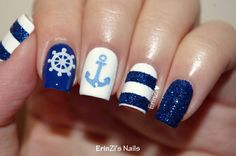 Nautical Skittlette - ErinZis Nails