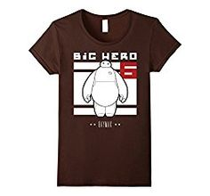 Black Graphic Baymax - Disney Big Hero 6 Baymax Block Graphic T-Shirt