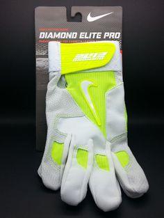 NIKE DIAMOND ELITE PRO NEON ADULT BATTING GLOVE (ADULT XL) -- NEW #Nike