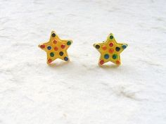 Cute Star Cookie Earrings Miniature Food by SouZouCreations, $10.00