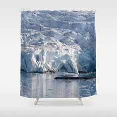 Ice art by nature on glacier and in ocean Shower Curtain by perttikangasniemi Ocean Shower Curtain, Ice Art, Nature Photography, Curtains, Outdoor, Home Decor, Outdoors, Blinds, Decoration Home