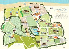 Camping Le Serignan Plage vakantie op camping direct aan zee in Frankrijk plattegrond