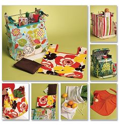 Large Fabric Tote Hot Cold Quilted Picnic Bag Patterns Butterick 5338