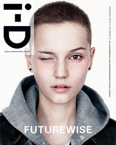 Publication: i-D Magazine Summer 2016 Model: Clara Deshayes Photographer: Willy Vanderperre Fashion Editor: Alastair McKimm Model: Lina Hoss Photographer: Daniel Jackson Fashion Editor: Alastair. Hair Inspo, Hair Inspiration, Short Hair Cuts, Short Hair Styles, Style Androgyne, Daniel Jackson, Bald Girl, Shaved Head, Crew Cuts