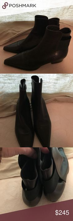Jil Sander ankle booties 35 1/2 US 5.5 In excellent condition anke pointed boots by Jil Sander. Size european 35 1/2 US 5.5. Please check pictures before purchasing. No dustbag or box. Jil Sander Shoes Ankle Boots & Booties
