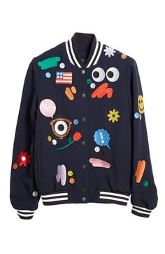 Mira Mikati 'Darcel' Embroidered Bomber Jacket