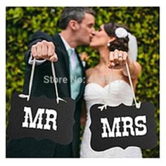 Online Shop 1set MR & MRS Wedding Decorations New Product ! Wedding Photo Booth Props Wedding Birthday Party Favor|Aliexpress Mobile