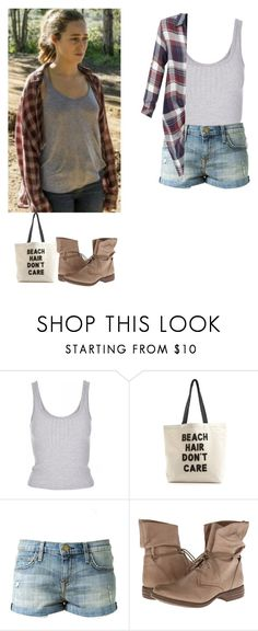 """""""Alicia Clark summer outfit - ftwd / fear the walking dead"""" by shadyannon ❤ liked on Polyvore featuring Topshop, Fallon & Royce, Current/Elliott, Skechers and LE3NO"""