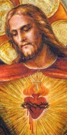 GLORIFIQUEMOS CON NUESTRO AMOR, AL CORAZÓN SAGRADO DE NUESTRO JESÚS. CORAZÓN DE PUERTAS ABIERTAS, PARA DARSE TODO A LA HUMANIDAD !!! CON NUESTRA ENTREGA, REPAREMOS ESE CORAZÓN DESGARRADO POR NUESTRA DESOBEDIENCIA Y NUESTRA MALDAD. Mary Magdalene And Jesus, Jesus E Maria, Lion Of Judah, Heart Of Jesus, In Christ Alone, Jesus Loves Me, Sacred Heart, Christian Art, Jesus Christ