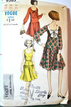 1960s Vintage Vogue Pattern 6363 One Piece by TabbysVintageShop