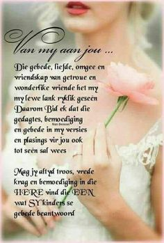 Mag jy altyd troos, vrede, krag en bemoediging in die Here vind. Christmas Wishes Quotes, Womens Day Quotes, Good Night Prayer, Sympathy Quotes, Butterfly Quotes, Afrikaanse Quotes, Grieving Quotes, Prayers For Strength, Bible Love