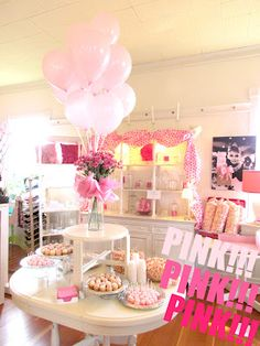 Our fun pink party at Grandiflora!