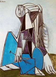 Portrait of Sylvette David, 1954, Pablo Picasso    Size: 130.7x97.2 cm  Medium: oil on canvas
