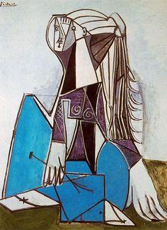 Portrait of Sylvette David, 1954, Pablo Picasso    Size: 130.7x97.2 cm  Medium: oil on canvas