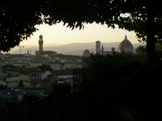 Florence: view from the hill, on the way up to piazzale michelangelo.