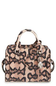 Alexander McQueen 'Mini Padlock' Genuine Python Duffel Bag available at #Nordstrom