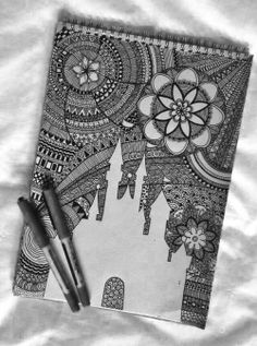 love photography beauty drawing cute adorable Black and White disney Cool beautiful hippie hipster Awesome bedroom boho disney world Grunge bed lovely flowers bohemian sweet floral cinderella gypsy Hand drawn mandala drawn cinderellas castle disney castle