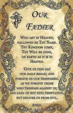 ~j   our father...