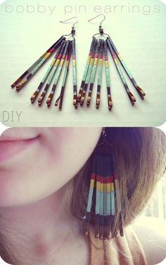 DIY Crafts Using Nail Polish - Fun, Cool, Easy and Cheap Craft Ideas for Girls, Teens, Tweens and Adults | Bobby Pin Earrings