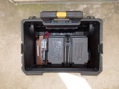 And then were installed in the tool box bottom case Ham Radio Kits, Tool Box On Wheels, Go Kit, John Wright, Alternative Energy, Emergency Preparedness, Radios, Diy, Boxing