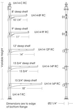 Urban Archaeology | Retail Shelf Brackets, Hardware and Finials UA0014 RC Series