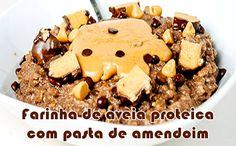 Manteiga de amendoim proteica com chocolate e aveia #receitas #fitness #academia #receitasproteicas