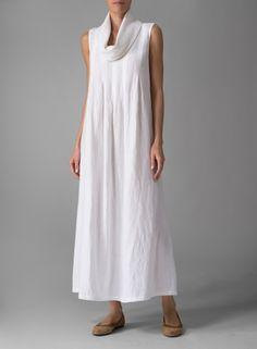 Белье без рукавов Клобук шеи длинное платье