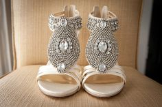Gorgeous bling on this Key West bride's shoes! photo by http://mecimages.com
