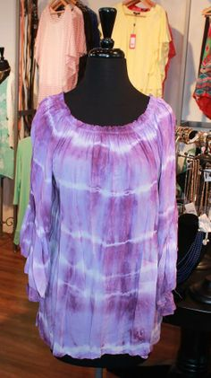 Ripple tie dye flowy top! Gorgeous color for spring! One size, $54.00.