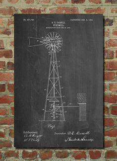 Hey, I found this really awesome Etsy listing at https://www.etsy.com/listing/227573624/windmill-1906-patent-poster-antique