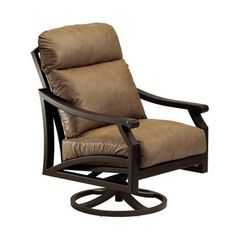 Tropitone Mondovi Lounge Rocking Chair with Cushions Finish: Parchment, Fabric: Canvas Heather Beige