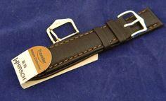 20mm Mens Hirsch Traveller Nature Collection Brown Leather Watch Band Strap #Hirsch