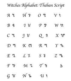 Thebian script