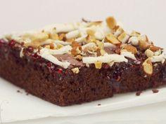 Chocolate Raspberry Bars with White Chocolate and Almonds Recipe : Giada De Laurentiis : Food Network - FoodNetwork.com