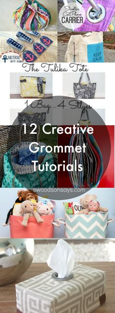 12 Creative Grommet DIYs & Sewing Tutorials