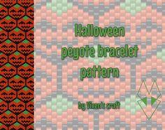 Halloween peyote bracelet pattern by Vixenscraft on Etsy
