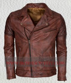 Mens Brown BRANDO Motorbiker Leather Jacket in just $199. Shop the Mens Brown Motorbiker Leather Jacket from online store Moviesoutfit.com UK, USA