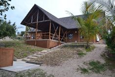 Morrumbene Beach Resort, located in the Inhambane Province of Mozambique, offers perfect weather, white sandy beaches and a beaten track to stray from Sandy Beaches, Beach Resorts, House Styles, Gallery, Home Decor, Decoration Home, Room Decor, Resorts, Interior Decorating