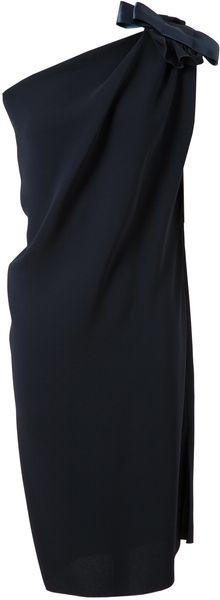 Lanvin ~ One Shouldered Crepe Silk Dress