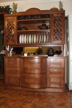 Купить Буфет - коричневый, буфет, мебель для кухни, мебель из дерева, мебель из фанеры