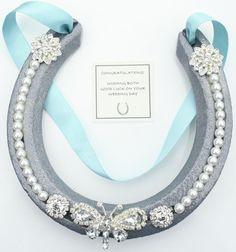 Lucky Real Horseshoe Bridal Wedding Gift / Present Wedding Horseshoe BUTTERFLY